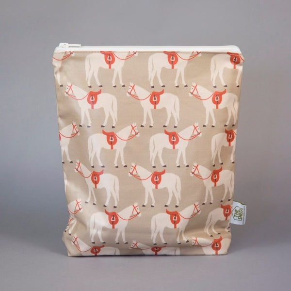 Gifted Horse Beige Waterproof Washbag
