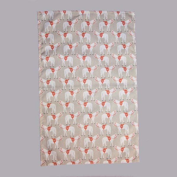 Gifted Horse Tea Towel - Beige