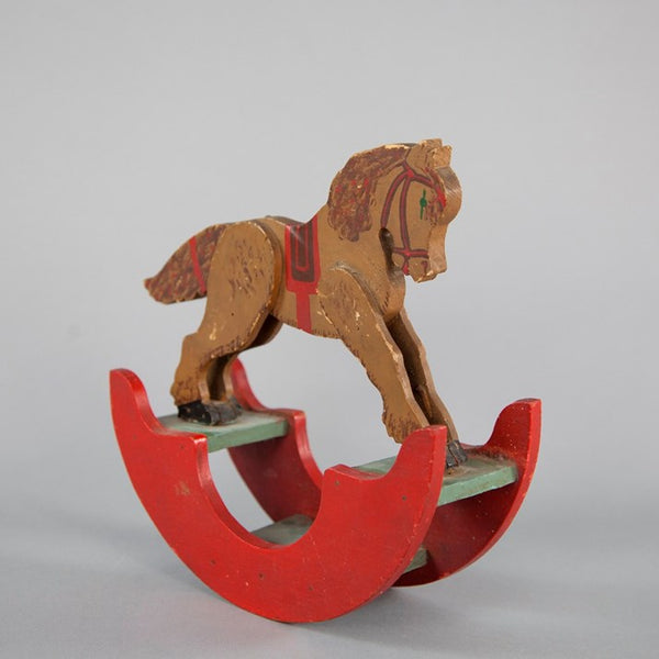 Victorian Painted Wooden Horse Toy