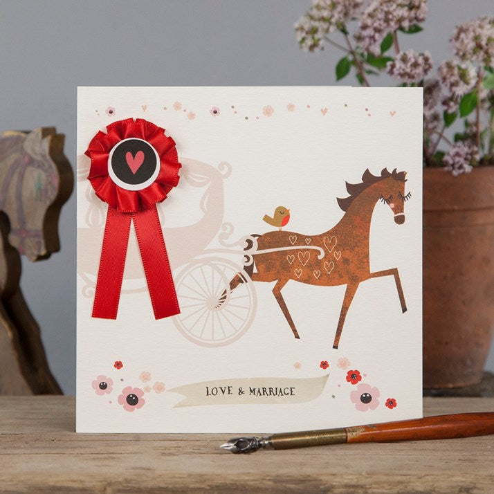 Love & Marriage Horse & Carriage Card
