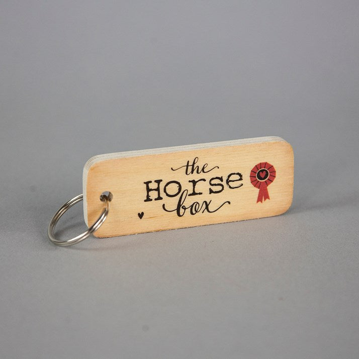 The Horse Box Wooden Keyring