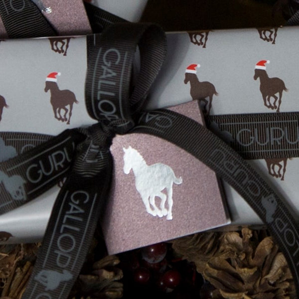 Chocolate & Silver Horse Gift Tag