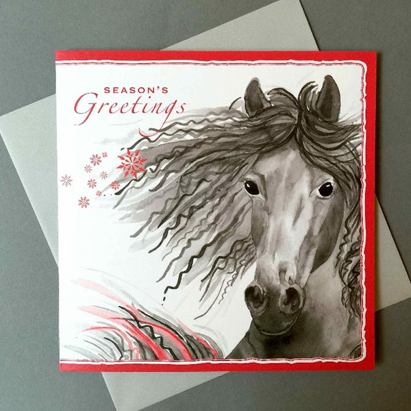 Black Stallion Christmas Card