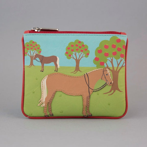 'Pretty Ponies & Apple Trees' Leather Purse