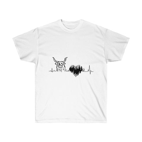 HeartBeat for Highlands unisex cotton tee