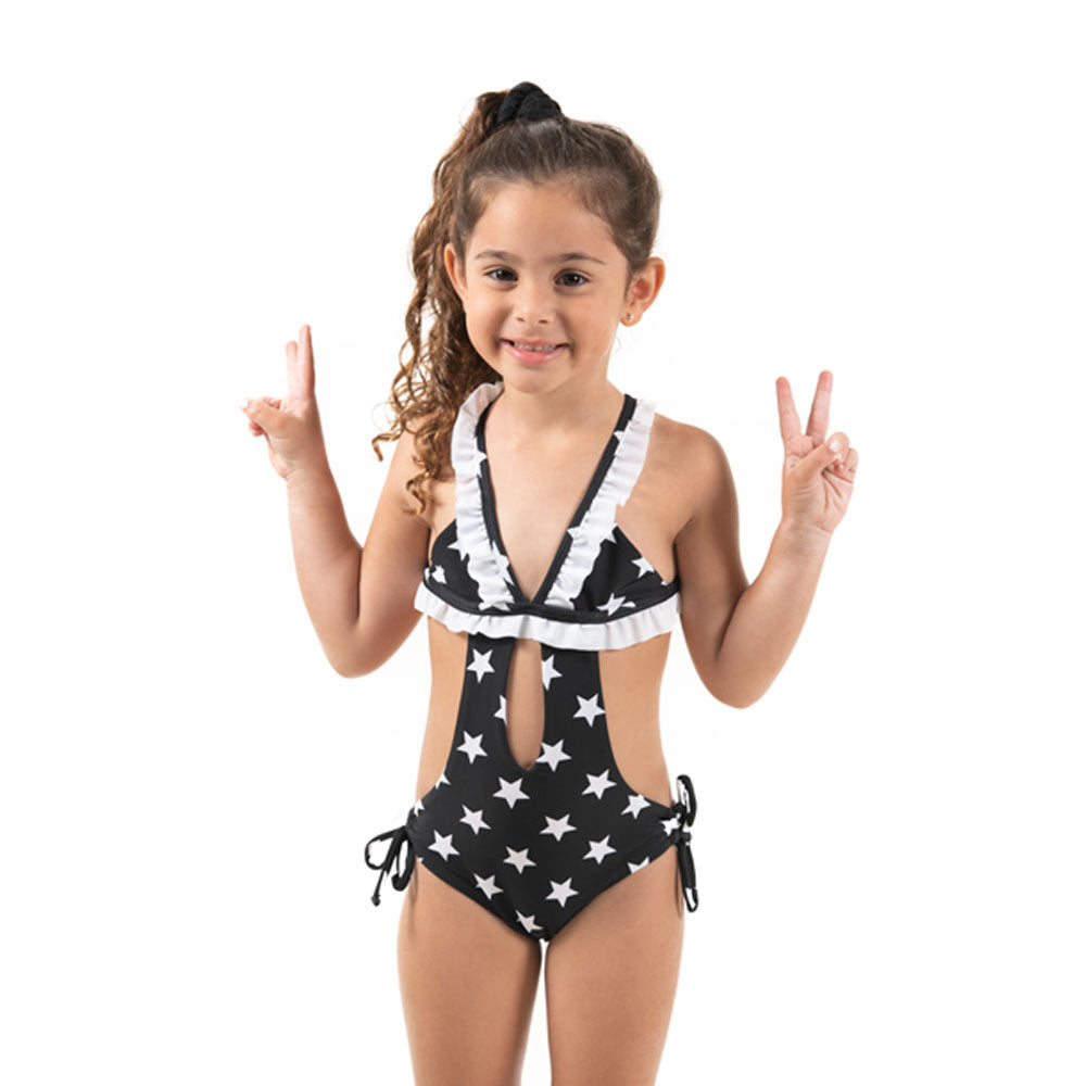 Black Stars - Trikini - Kids Swimwear