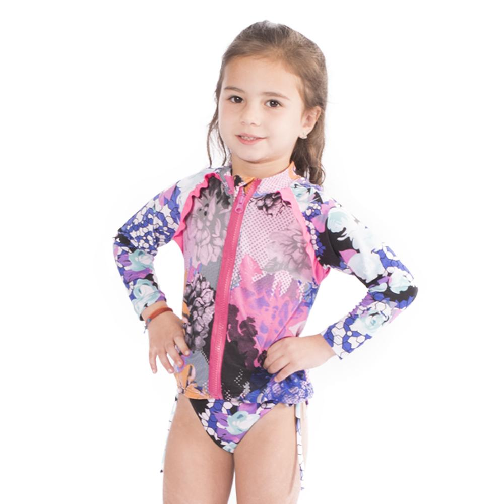 Flower Passion - Rash Guard Shirt - Kids Swimwear