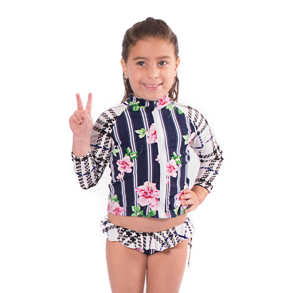 I Plaid You - Rash Guard Shirt - Kids Swimwear