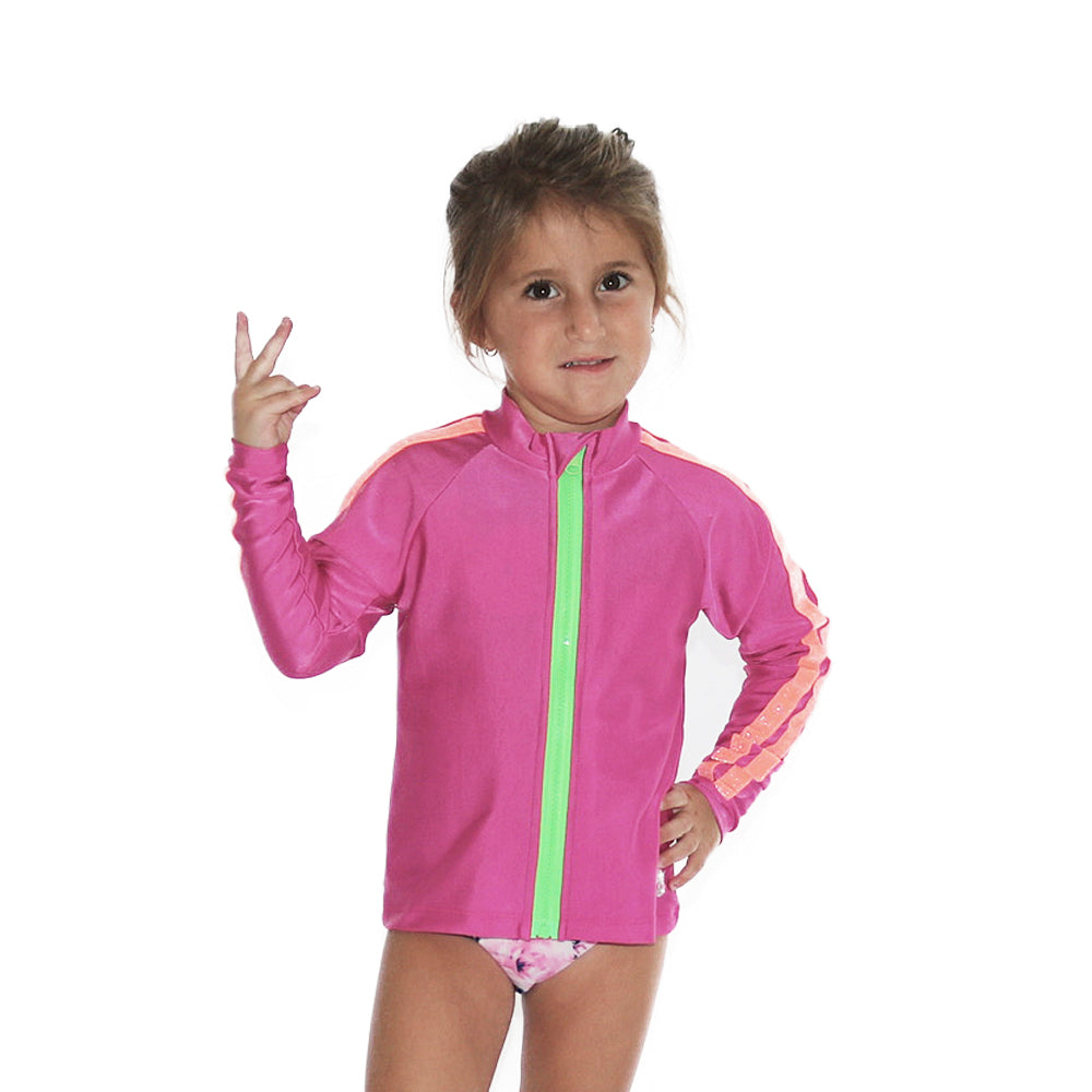 UniFucsia - Rash Guard Shirt - Kids Swimwear