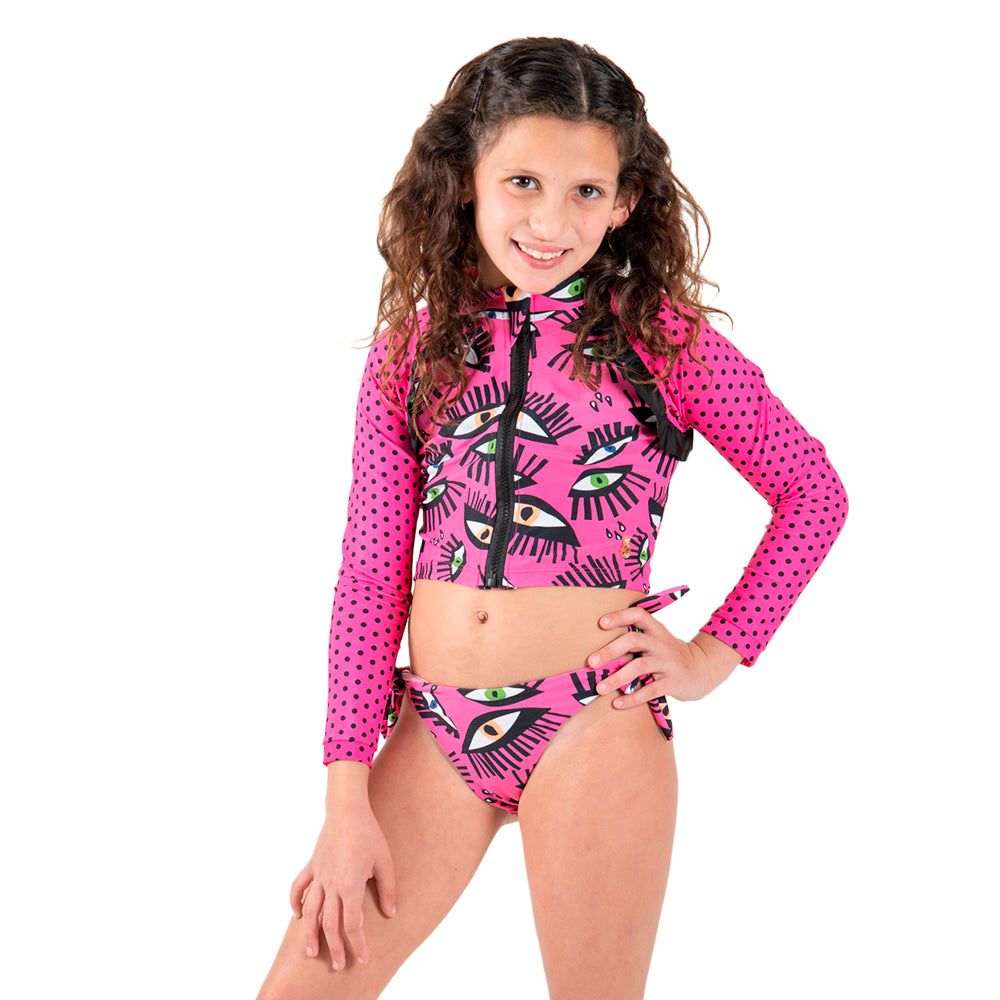 Fucsia Eye - Rash Guard - Kids Swimwear