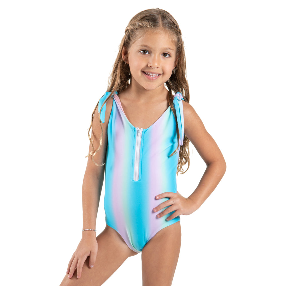 Blue Sunset - One Piece - Kids Swimwear