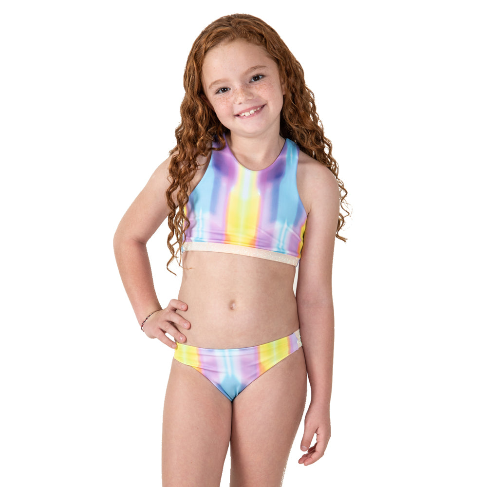 Rainbow Palm Tree -  Bikini - Kids Swimwear