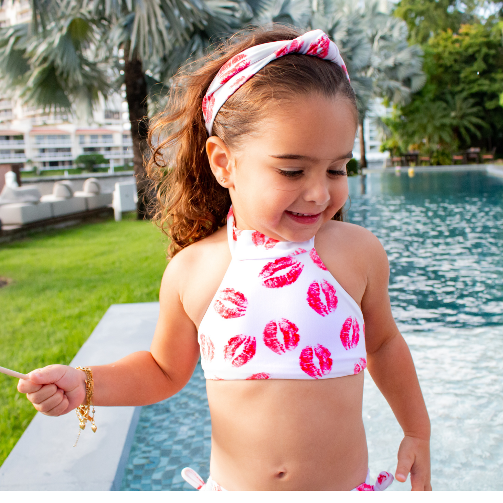 Red Kisses - Bikini - Kids Swimwear