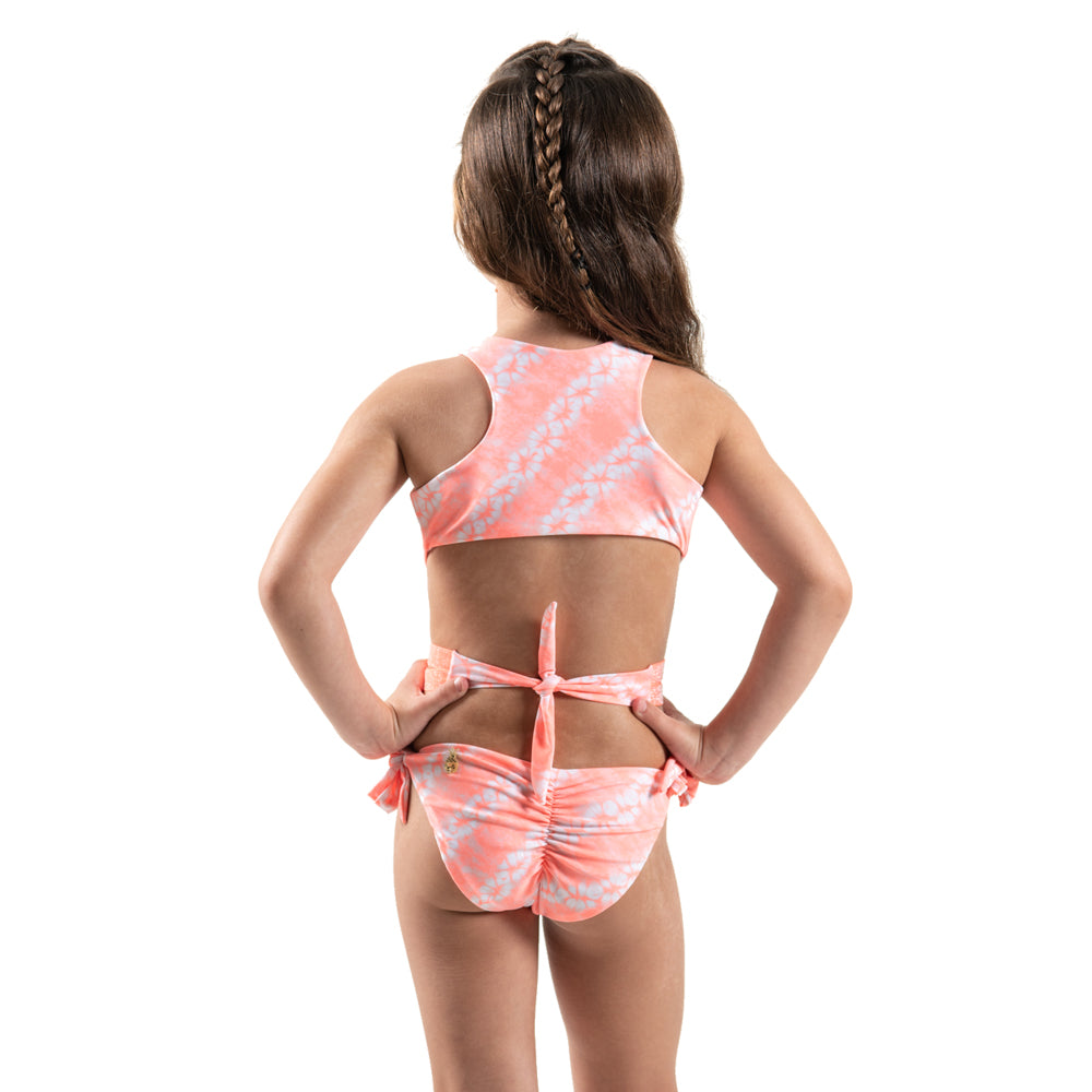 Orange Tie Dye - Trikini - Kids Swimwear