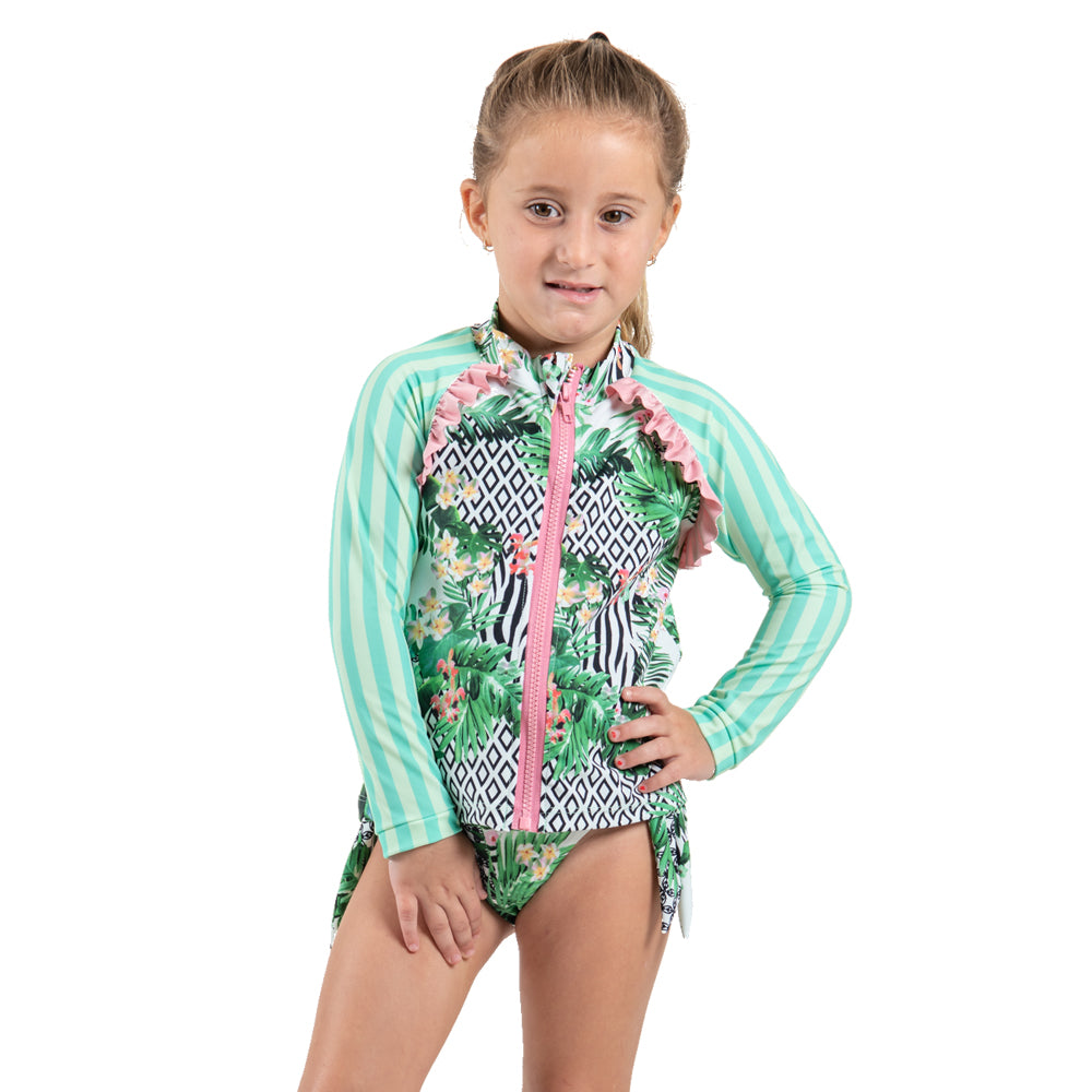 Striped Forest - Rash Guard - Kids Swimwear
