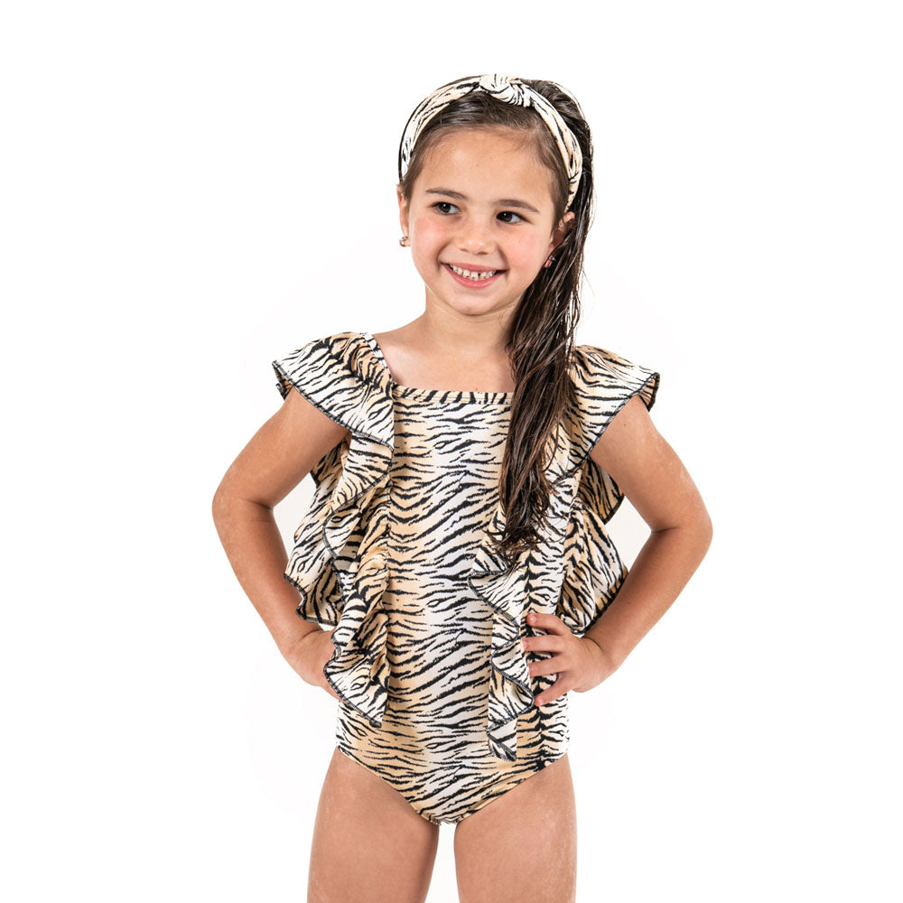 Black Tiger - One Piece - Kids Swimwear