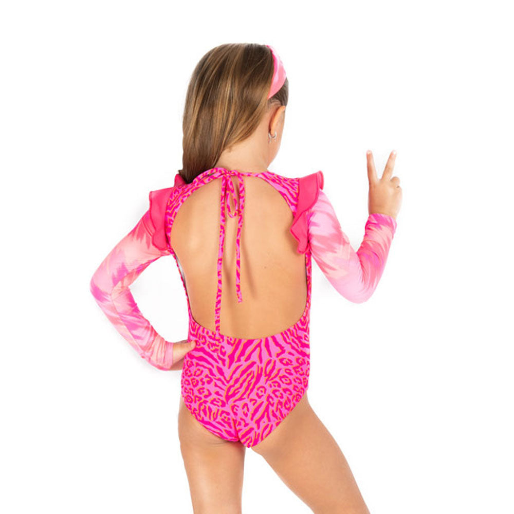 Tie Dye Leopard - One Piece Long Sleeve