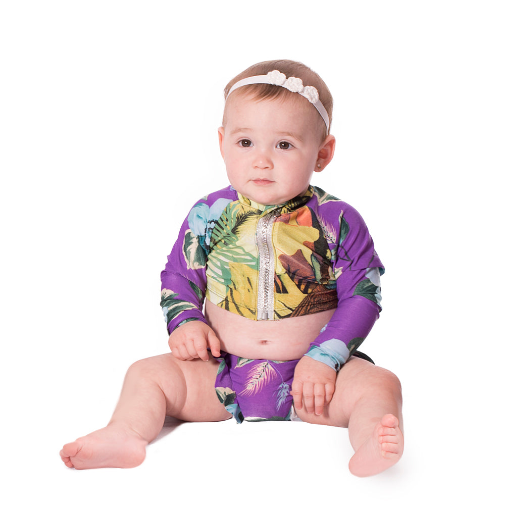 Greenurple - Rash Guard Shirt - Kids Swimwear