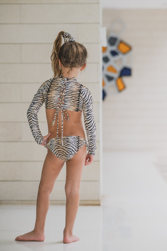 Black Tiger - Knot Bikini - Kids Swimwear