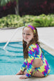 Neon Tie Dye -  One Piece - Kids Swimwear 1