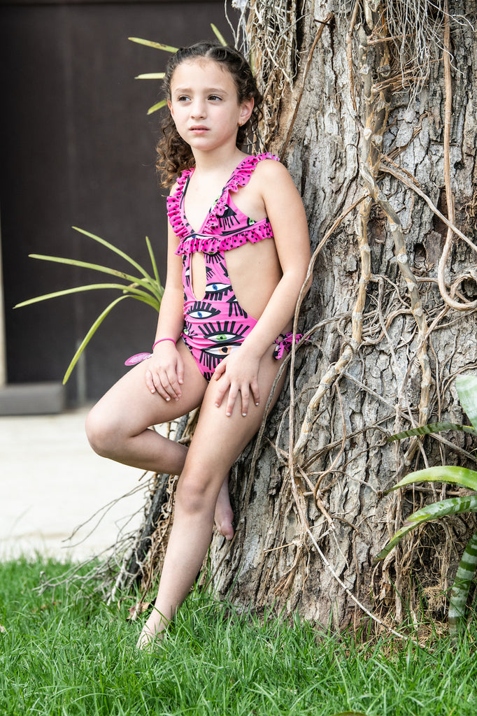 Fucsia Eyes - Trikini - Kids Swimwear