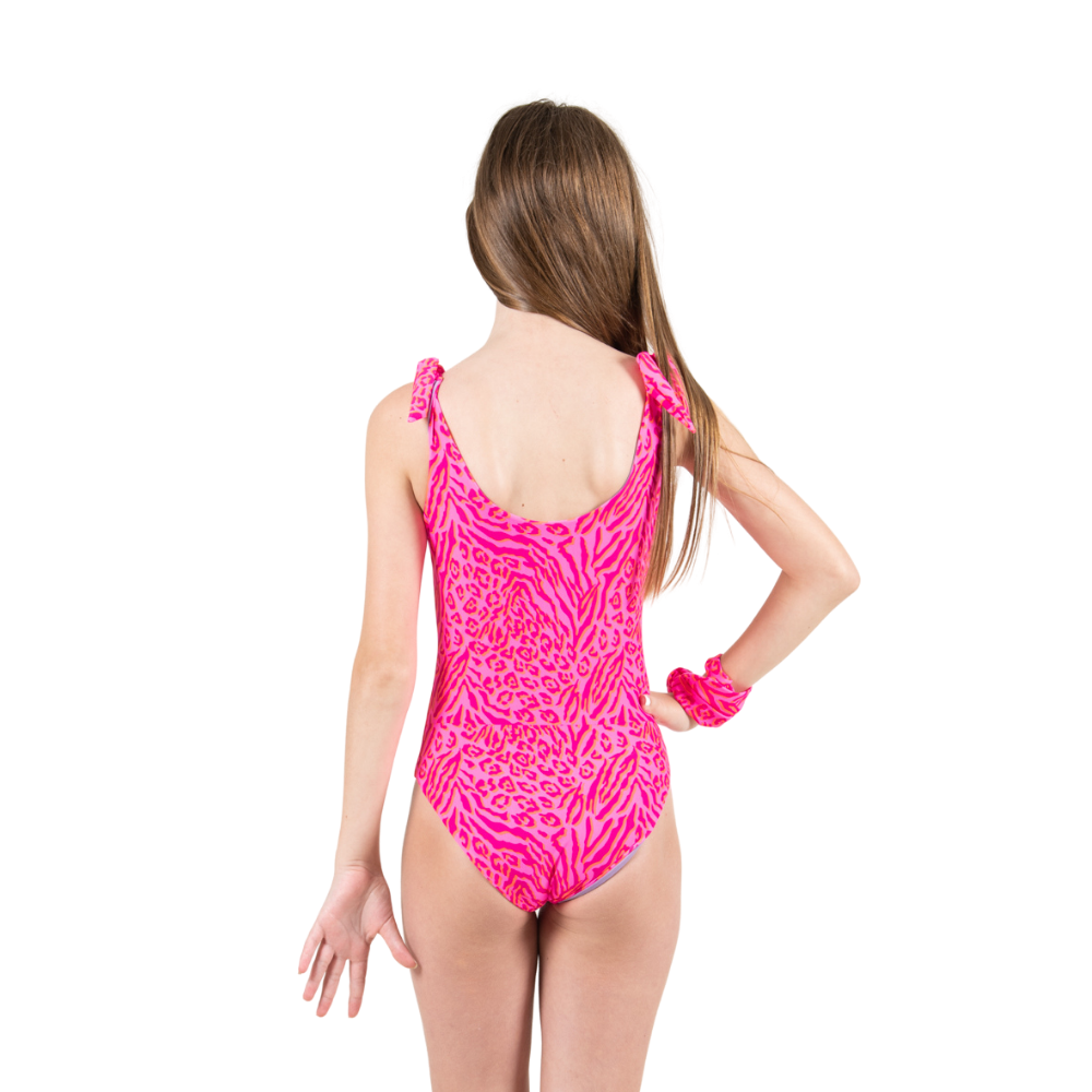 Tie Dye Leopard - One Piece - Kids Swimwear