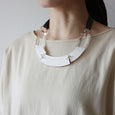 BAMBOO Necklace WHT