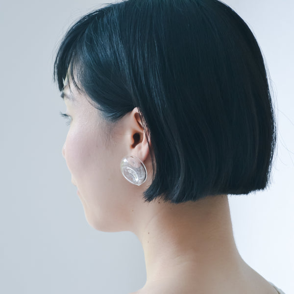 TARO HORIUCHI x SIRI SIRI Earrings MELTED STONE CLEAR