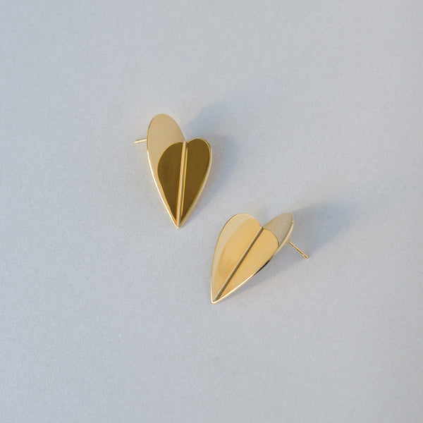 RADEN Earrings Folding Heart