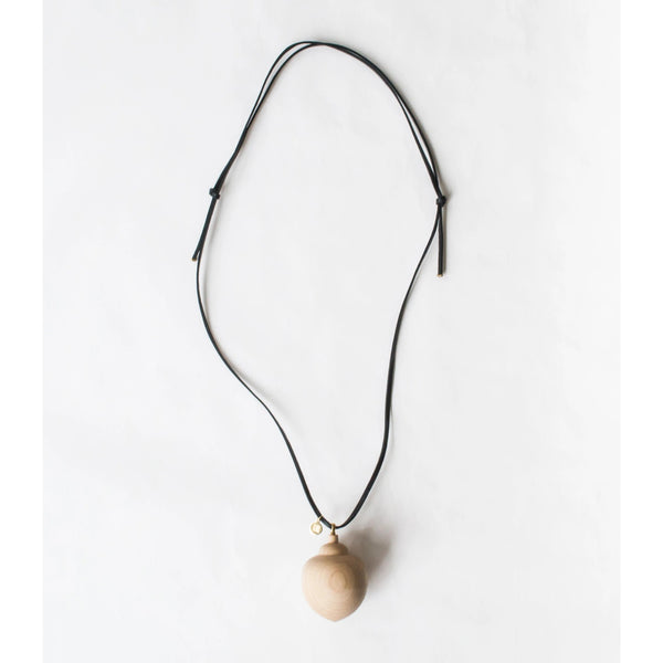 WOOD Necklace DARK APPLE