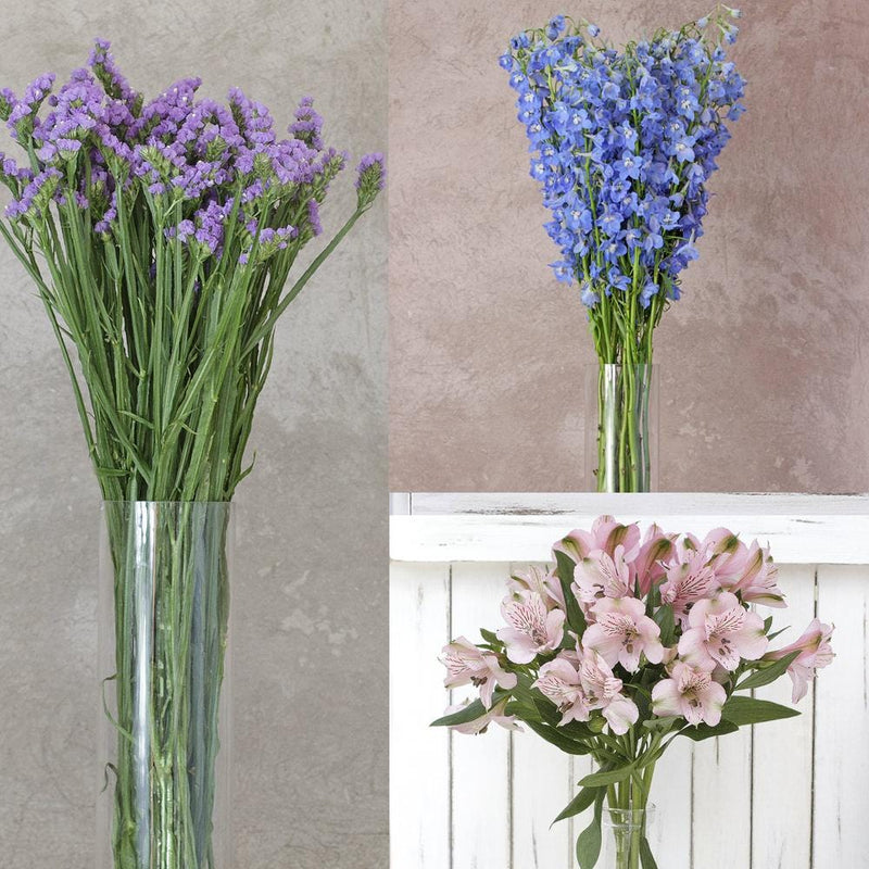 Alstroemeria, Delphinium Royal and Statice Mix Box