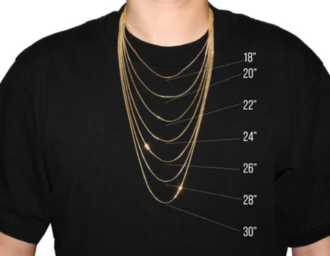 men necklace size guide