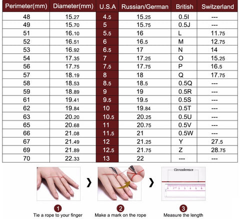 General Jewelry Sizing guide