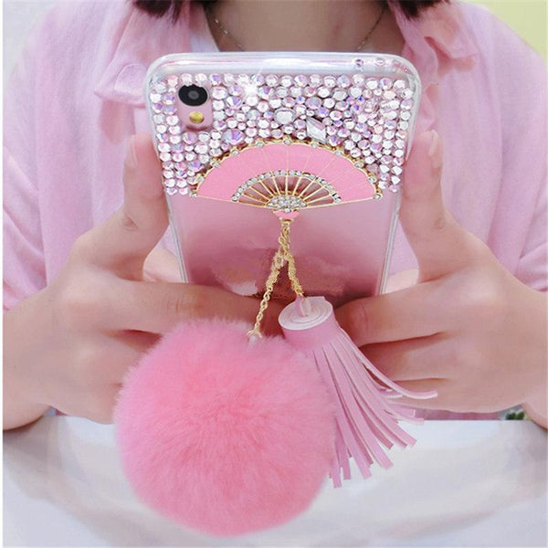 3D Fan Luxury Glitter Bling Rhinestone Samsung Phone Case Cases