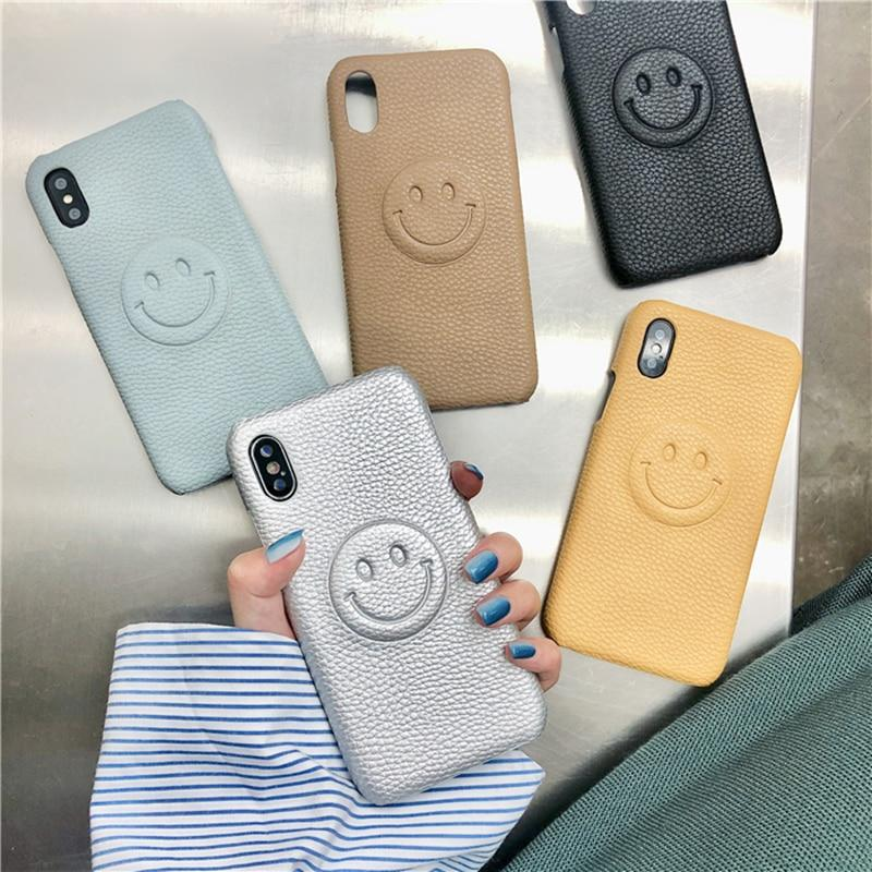 3D Smiley Face Cartoon Mobile Phone Cases Cute iPhone Cover