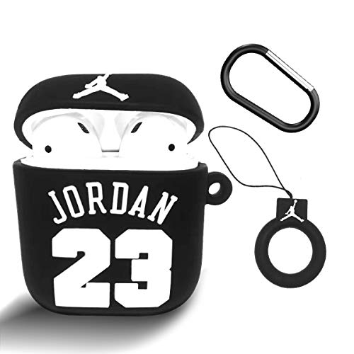 Jordan Airpods Case 1/2 NBA Cartoon Silicone Protective Cover Keychain