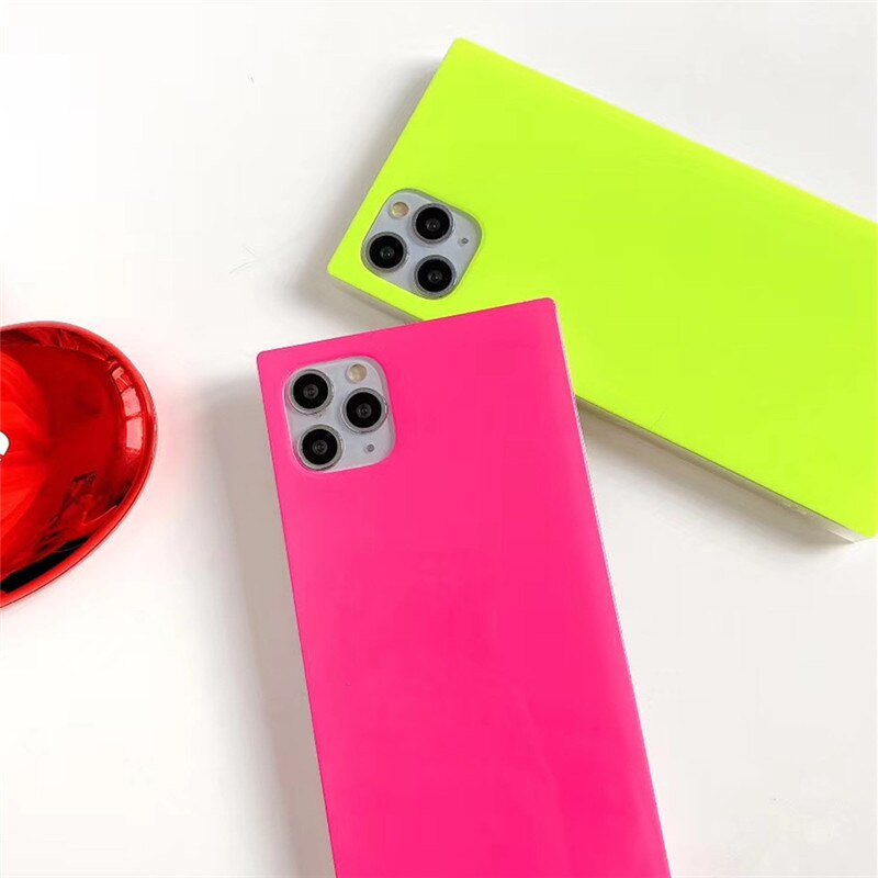 Candy Colors Square Phone Case Cover For iPhone - LABONNI