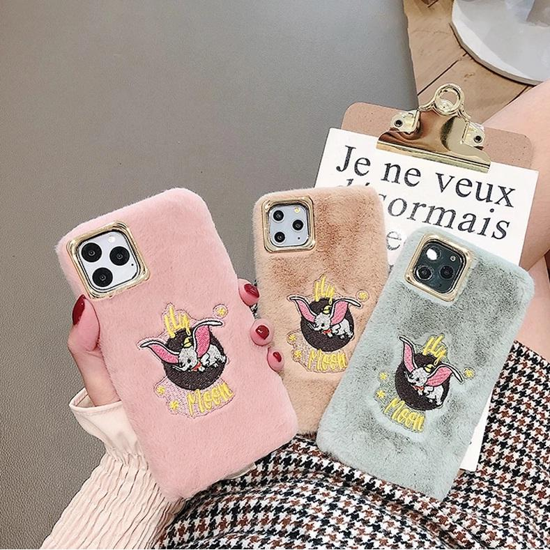 Winter Flying Elephant Cute Cartoon Embroidered Phone Case Iphone