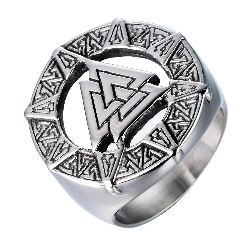 Ancient The Vikings Valknut Knot Nordic Odin Symbol Ring