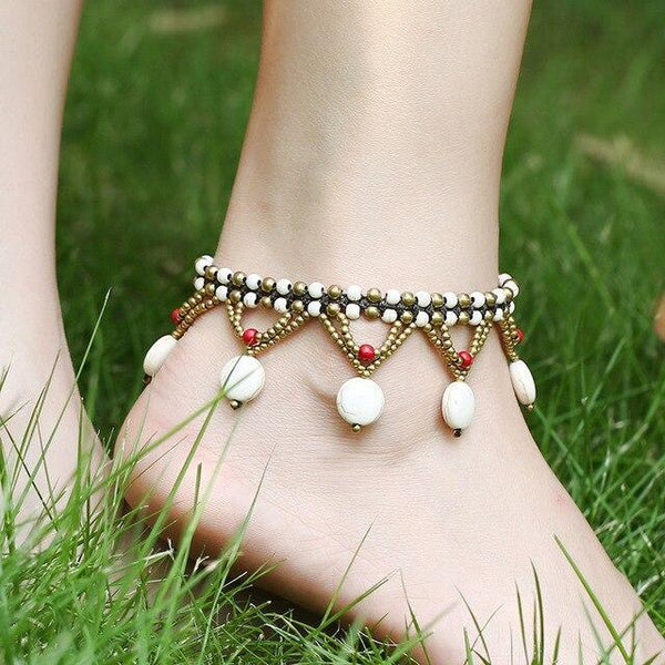 Ankle Bracelet Beaded Tassel Bohemia Beach Foot Jewelry Anklets