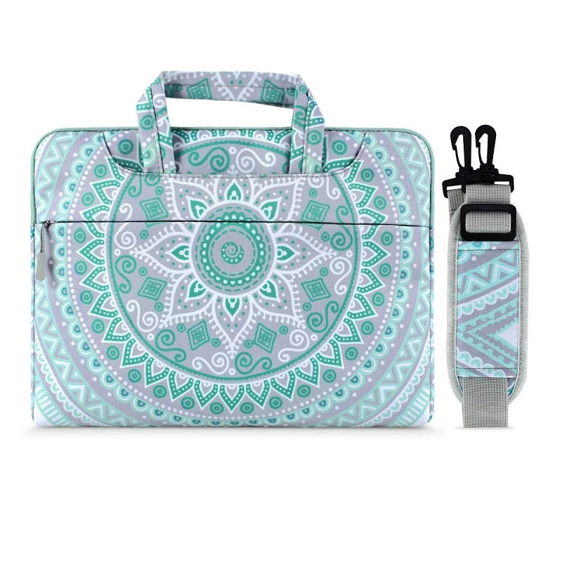 Mandala Laptop Shoulder Bag MacBook Notebook Briefcase Bags