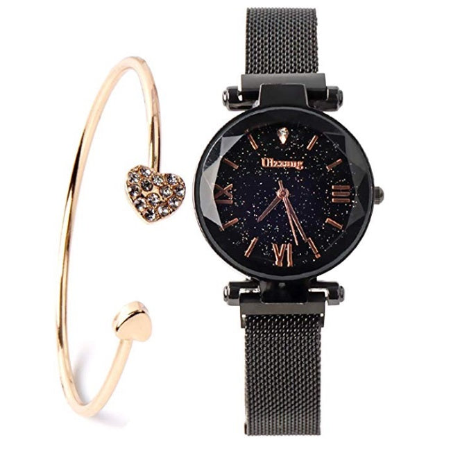 Luxury Quartz Starry Sky Dial Ladies Wrist Watches