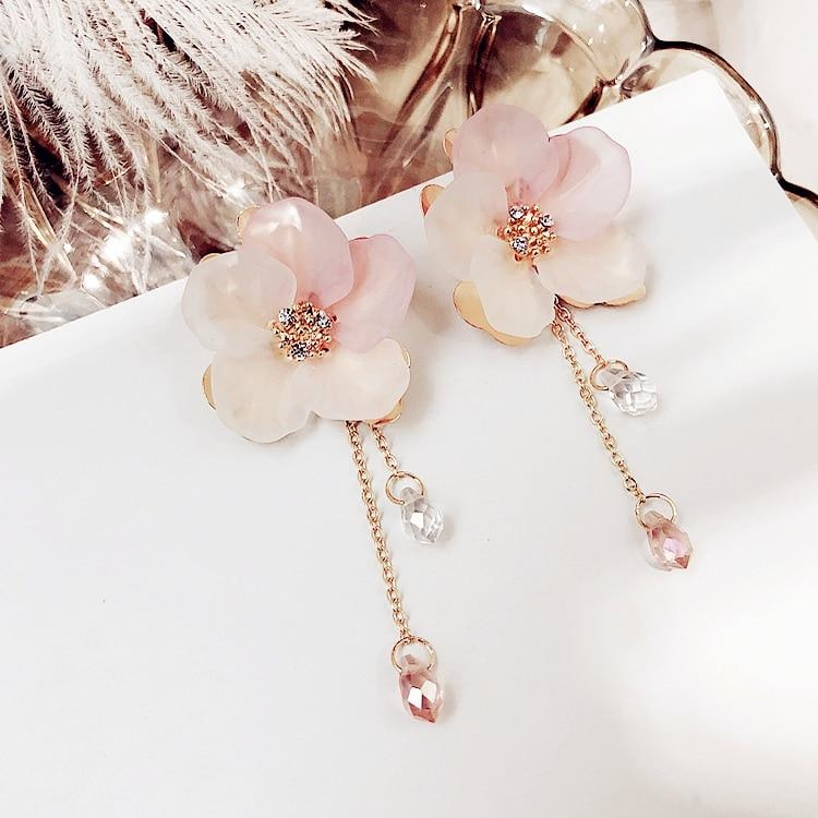 Bohemia Acrylic Flower Women Dangle Earrings