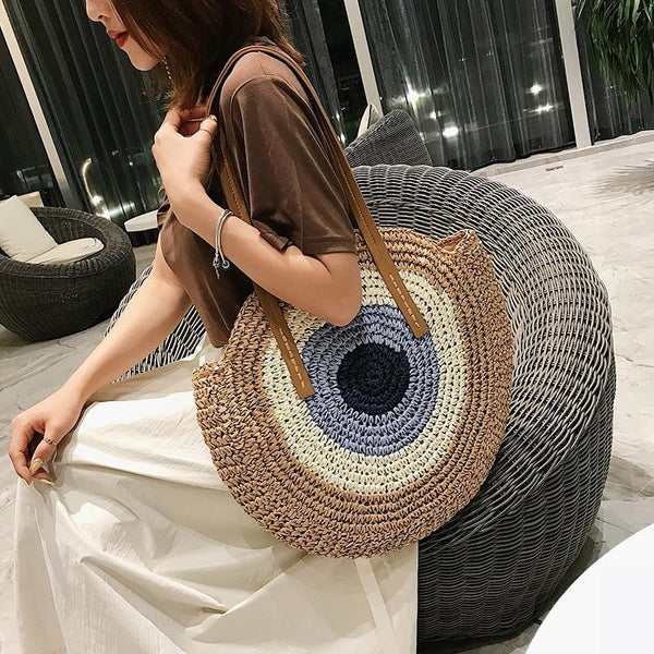 Bohemian Summer Beach Bags Woven Straw Bag Large Capacity Travel Tote