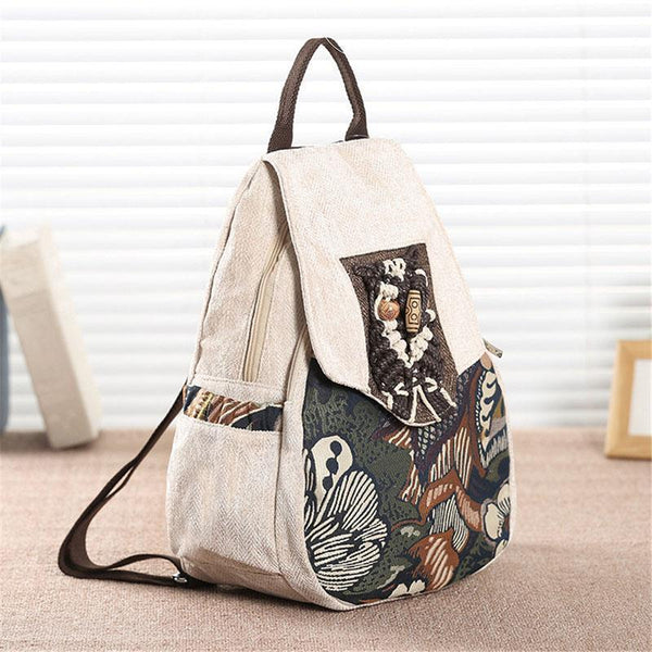 Boho Style Canvas Mini Women Backpack