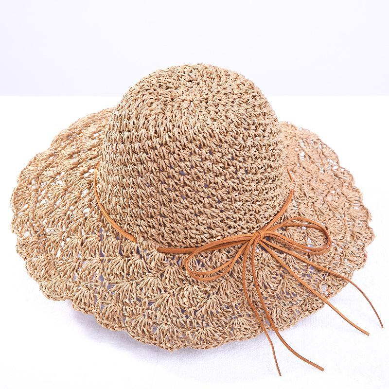 Wide Brim Straw Hats Summer Boho Women's Hand Woven Hat