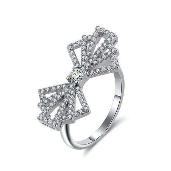 Bow-knot Design Rings Romantic Style Jewelry Ring