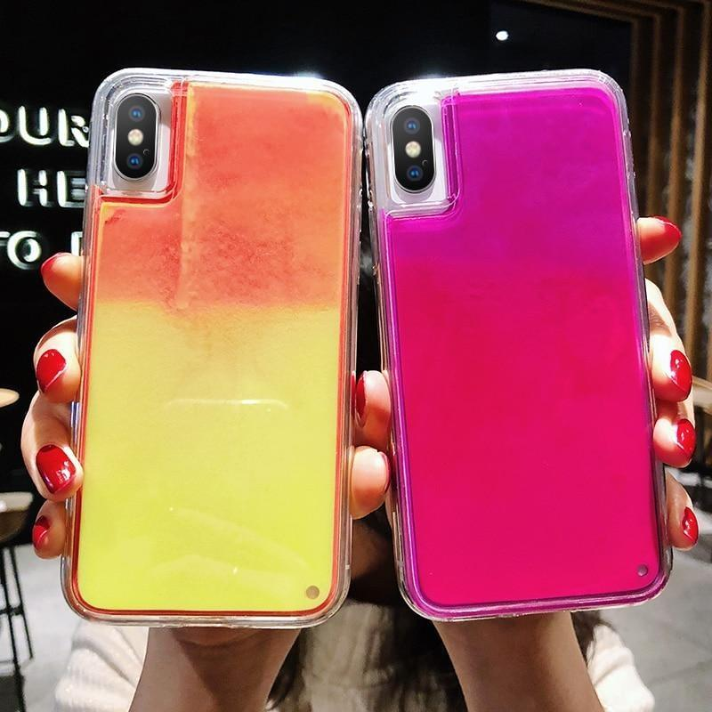 Candy Color Neon Dynamic Liquid Phone Case for iPhone Cases