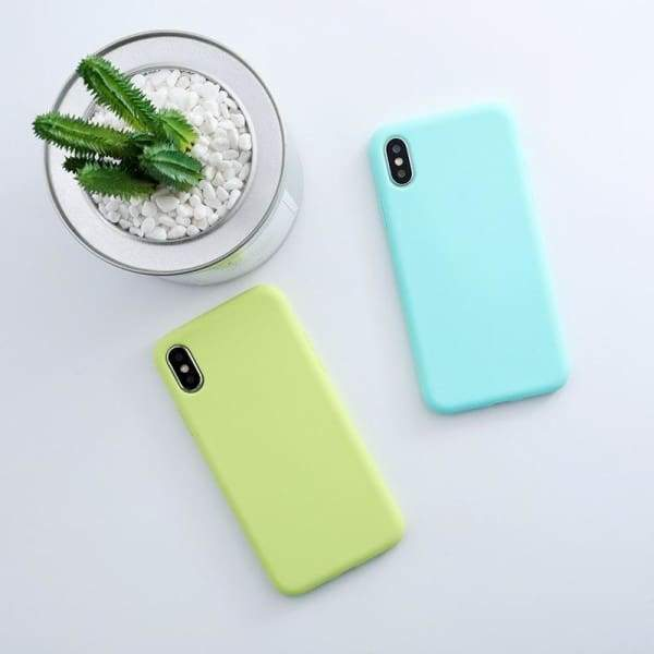 Candy Color Phone Case Cover iPhone X Xs max XR Matte Cases