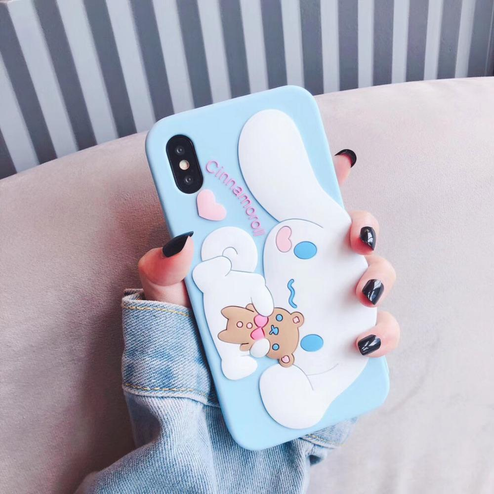 Cartoon Cinnamoroll Dog Funny Phone Case Cute iPhone Cases